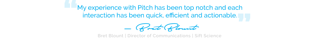 What people are saying about Pitch PR...